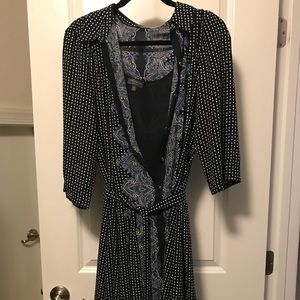 Limited navy and paisley high low dress